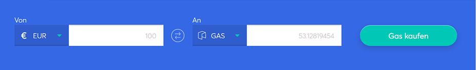 Tauschbarren zum Kauf von Gas