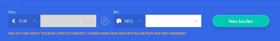 Tauschbarren zum Kauf von NEO