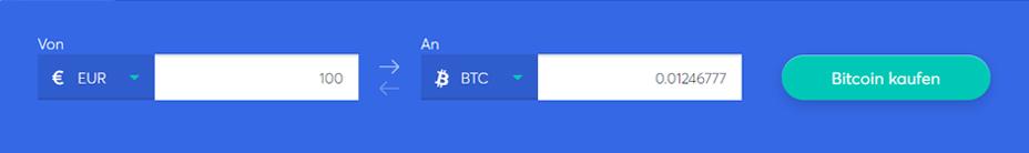 Wählen Sie die Kryptowährung aus, die Sie kaufen möchten