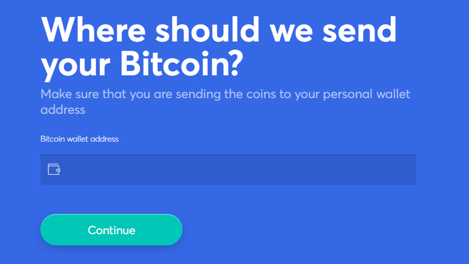 enter the correct wallet address to receive the cryptocurrency