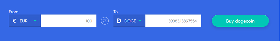 Exchange bar to buy dogecoin