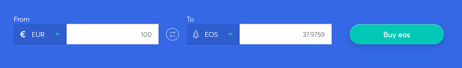 Exchange bar to buy eos