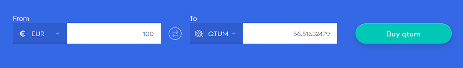 Exchange bar to buy Qtum