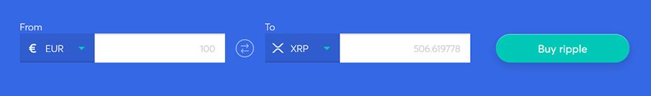 Exchange bar to buy ripple