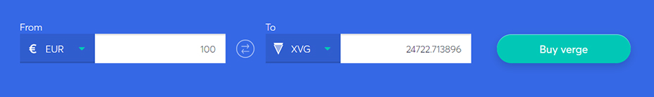 Exchange bar to buy verge