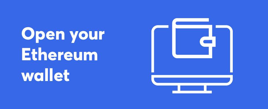 open your wallet to buy Ethereum