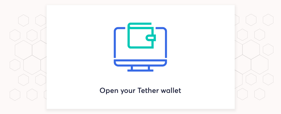 open your wallet to buy tether