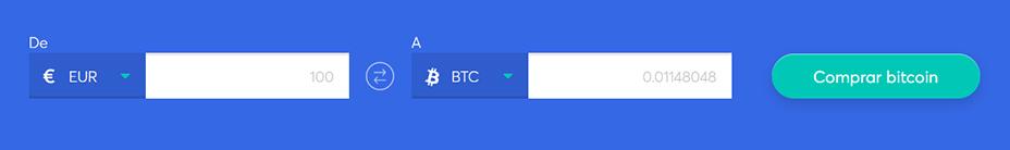 Cambiar la barra para comprar bitcoin