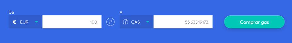 Cambiar la barra para comprar Gas