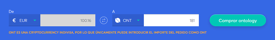 Cambiar la barra para comprar ontology