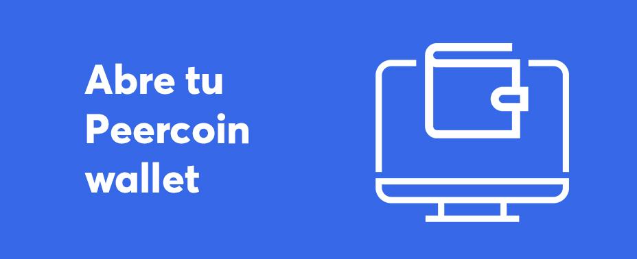 abre tu cartera para vender Peercoin