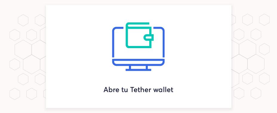 abre tu cartera para comprar tether