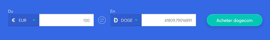 Echange de barres pour acheter du dogecoin