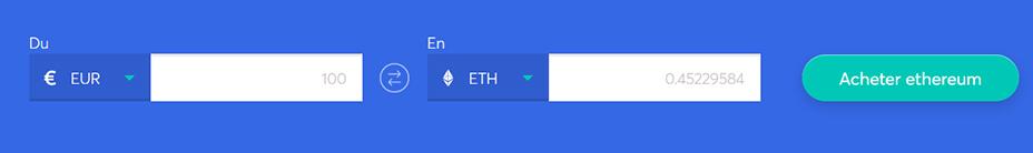 Echange de barres pour acheter du ethereum