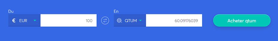 Echange de barres pour acheter du Qtum