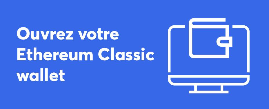 Ouvrez votre portefeuille pour vendre des pièces de ethereum classic