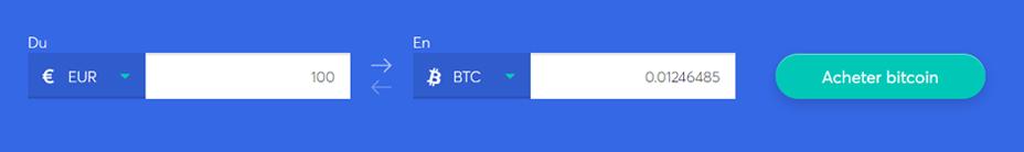 sélectionnez la crypto-monnaie que vous souhaitez acheter