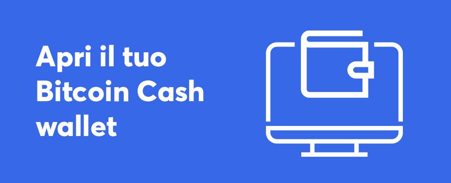 apri il tuo portafoglio per comprare bitcoin cash