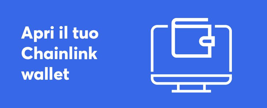apri il tuo portafoglio per vendere chainlink