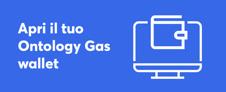apri il tuo portafoglio per comprare ontology gas