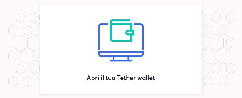 apri il tuo portafoglio per vendere tether