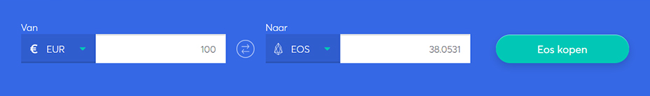 Exchange bar om eos te kopen