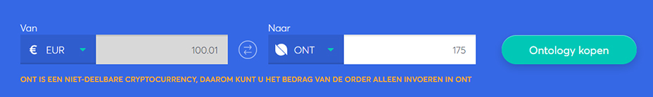 Exchange bar om ontology te kopen