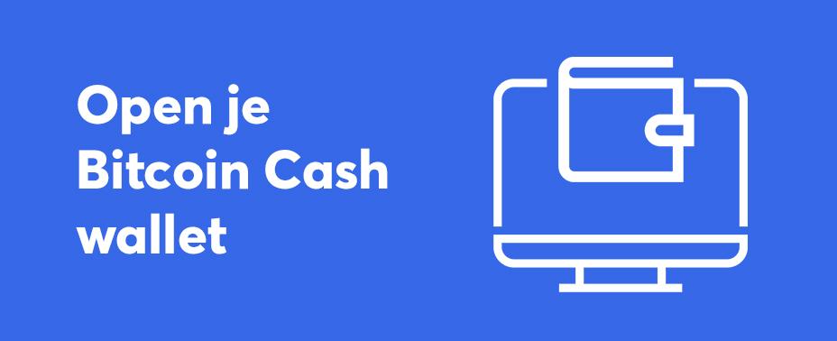 open uw wallet om bitcoin cash te verkopen