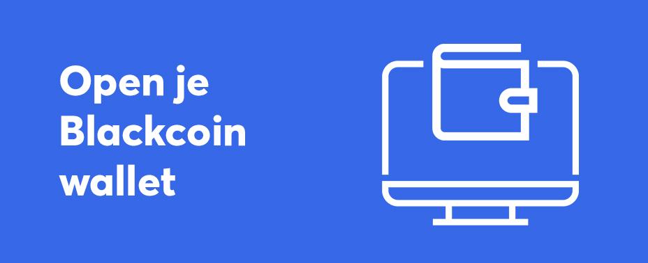 open uw wallet om Blackcoin te verkopen