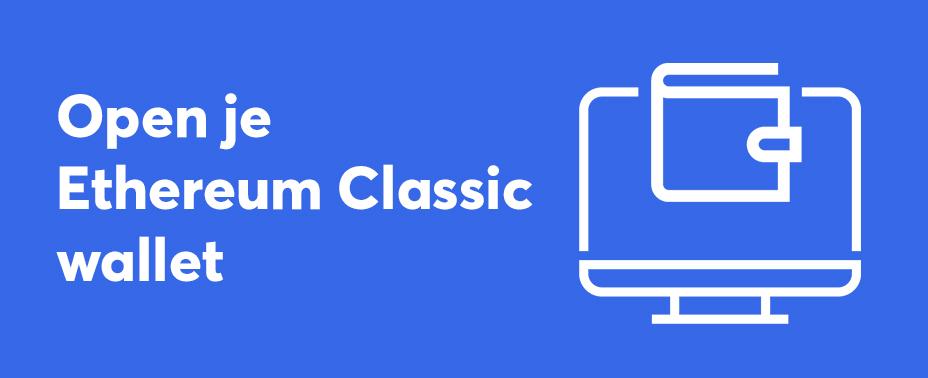 open uw wallet om Ethereum Classic te kopen