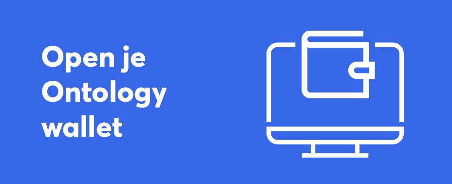 open uw wallet om ontology te verkopen