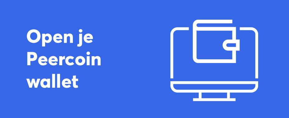 open uw wallet om Peercoin te verkopen