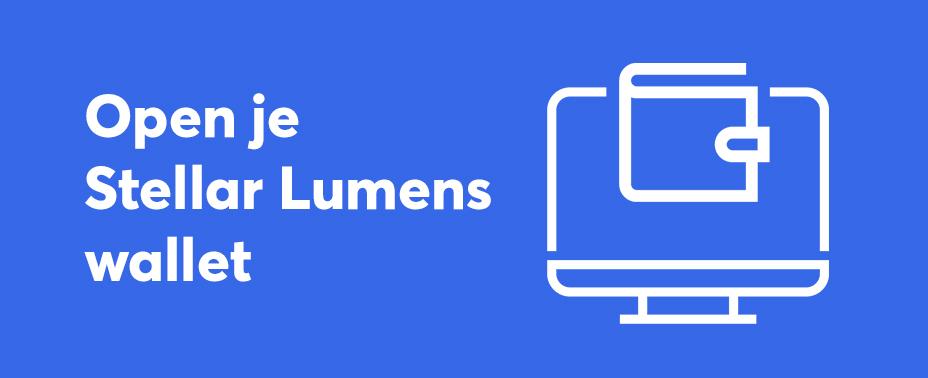 open uw wallet om Stellar Lumens te verkopen