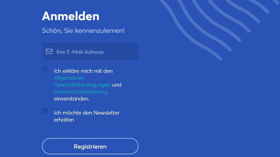 Registrieren Sie sich auf anycoin direct, um mit dem Kauf, Handel oder Verkauf von Krypto-Währung zu beginnen