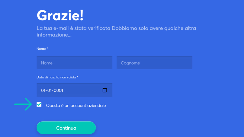 inserisci la tua password per proteggere il tuo account anycoin direct