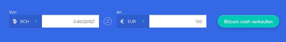 Tauschbarren zum Kauf von bitcoin cash