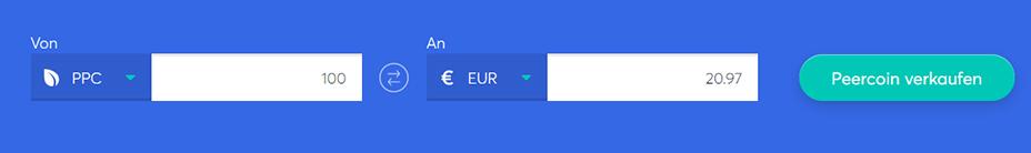 Tauschbarren zum Kauf von Peercoin