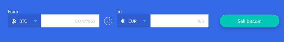 Exchange bar to sell bitcoin