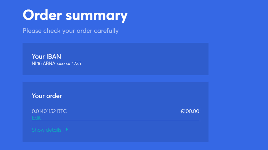 check your cryptocurrency sell order