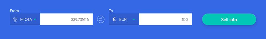 Exchange bar to sell IOTA