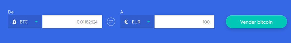 Cambiar la barra para vender bitcoin