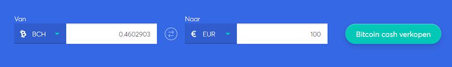Exchange bar om bitcoin cash te verkopen