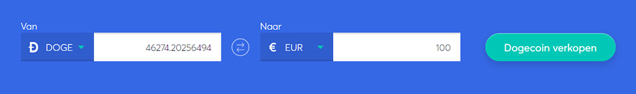Exchange bar om dogecoin te verkopen