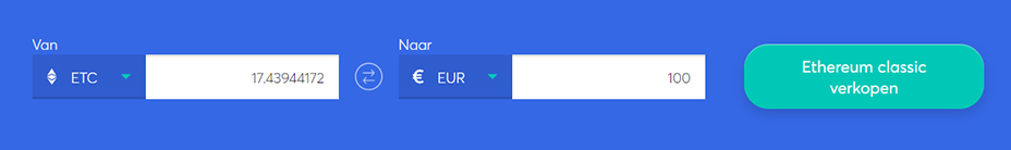 Exchange bar om ethereum classic te verkopen