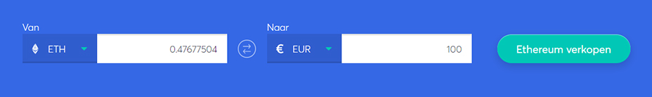 Exchange bar om ethereum te verkopen