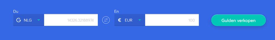 Exchange bar om Gulden te verkopen