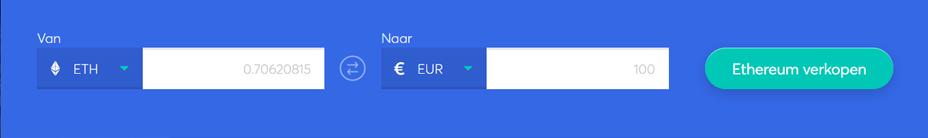 selecteer de cryptocurrency die u wilt verkopen