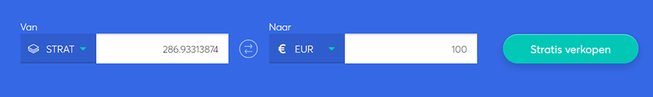 Exchange bar om strat te verkopen