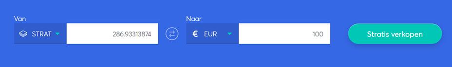 Exchange bar om strat te verkopen